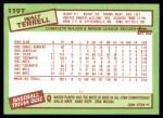 1985 Topps Traded #119 T Walt Terrell  Back Thumbnail