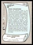 1989 Pacific Legends #199  Shag Crawford  Back Thumbnail