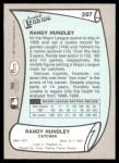 1989 Pacific Legends #207  Randy Hundley  Back Thumbnail