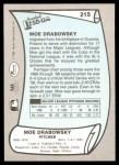 1989 Pacific Legends #215  Moe Drabowsky  Back Thumbnail