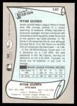 1989 Pacific Legends #141  Ryne Duren  Back Thumbnail