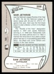 1989 Pacific Legends #206  Sam Jethroe  Back Thumbnail