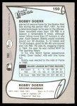 1989 Pacific Legends #150  Bobby Doerr  Back Thumbnail
