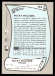 1989 Pacific Legends #164  Bucky Walters  Back Thumbnail