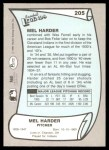 1989 Pacific Legends #205  Mel Harder  Back Thumbnail
