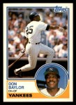1983 Topps Traded #8 T Don Baylor  Front Thumbnail