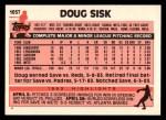 1983 Topps Traded #105 T Doug Sisk  Back Thumbnail