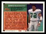 1994 Topps #16  David Alexander  Back Thumbnail
