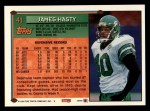 1994 Topps #41  James Hasty  Back Thumbnail