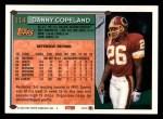 1994 Topps #114  Danny Copeland  Back Thumbnail