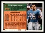 1994 Topps #182  Bo Orlando  Back Thumbnail