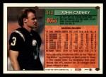 1994 Topps #312  John Carney  Back Thumbnail