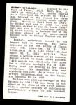 1950 Callahan Hall of Fame  Bobby Wallace  Back Thumbnail