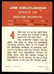 1963 Fleer #4  Jim Colclough  Back Thumbnail