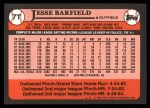 1989 Topps Traded #7 T Jesse Barfield  Back Thumbnail