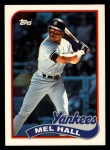 1989 Topps Traded #44 T Mel Hall  Front Thumbnail