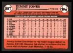 1989 Topps Traded #58 T Jimmy Jones  Back Thumbnail
