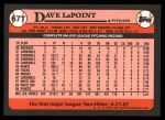 1989 Topps Traded #67 T Dave LaPoin  Back Thumbnail