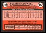 1989 Topps Traded #78 T Oddibe McDowell  Back Thumbnail