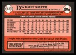 1989 Topps Traded #113 T Dwight Smith  Back Thumbnail