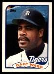 1989 Topps Traded #124 T Gary Ward  Front Thumbnail