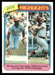 1980 Topps #1   -  Lou Brock / Carl Yastrzemski  Highlights Front Thumbnail