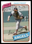 1980 Topps #423  Dave Frost  Front Thumbnail