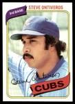 1980 Topps #514  Steve Ontiveros  Front Thumbnail