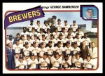 1980 Topps #659   -   George Bamberger Brewers Team and Checklist  Front Thumbnail