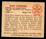 1950 Bowman #86  Dick Hoerner  Back Thumbnail