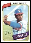 1980 Topps #458  Billy Sample  Front Thumbnail