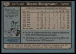 1980 Topps #634  Glenn Borgmann    Back Thumbnail
