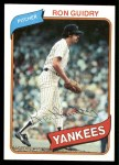1980 Topps #300  Ron Guidry  Front Thumbnail