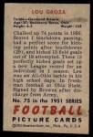 1951 Bowman #75  Lou Groza  Back Thumbnail