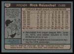 1980 Topps #175  Rick Reuschel  Back Thumbnail