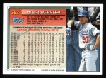 1994 Topps #382  Mitch Webster  Back Thumbnail
