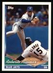 1994 Topps #675  Roberto Alomar  Front Thumbnail