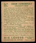 1934 Goudey #85  Adam Comorosky  Back Thumbnail