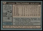 1980 Topps #382  Dave Freisleben  Back Thumbnail