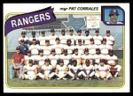 1980 Topps #41   -  Pat Corrrales Rangers Team and Checklist  Front Thumbnail