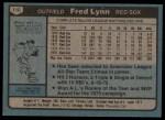 1980 Topps #110  Fred Lynn    Back Thumbnail