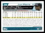 2004 Topps #26  Juan Pierre  Back Thumbnail
