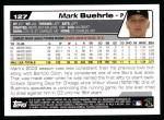 2004 Topps #127  Mark Buehrle  Back Thumbnail