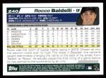 2004 Topps #240  Rocco Baldelli  Back Thumbnail