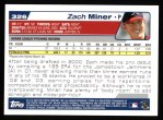 2004 Topps #326   -  Zach Miner First Year Back Thumbnail