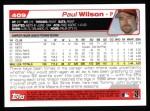 2004 Topps #409  Paul Wilson  Back Thumbnail