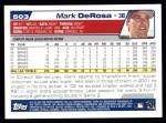 2004 Topps #503  Mark DeRosa  Back Thumbnail