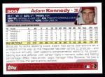 2004 Topps #505  Adam Kennedy  Back Thumbnail