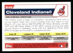 2004 Topps #646   Cleveland Indians Team Back Thumbnail