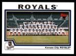 2004 Topps #651   Kansas City Royals Team Front Thumbnail